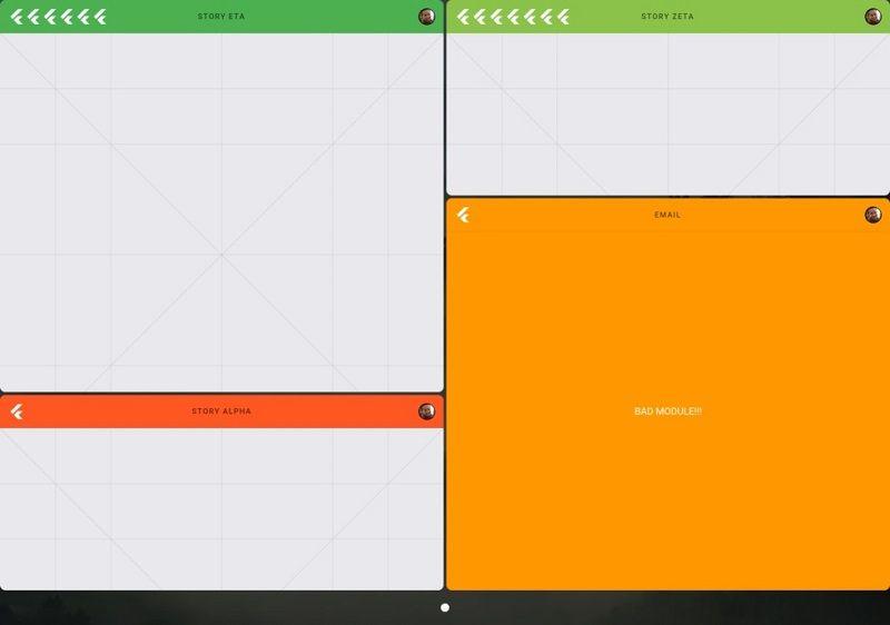 Fuchsia split screen