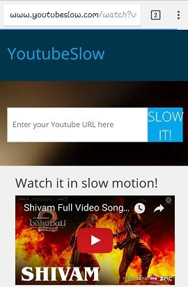 youtube tips and tricks for Youtube video in slow motion