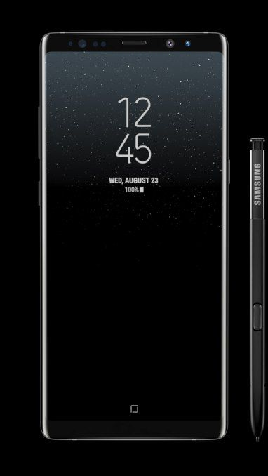 samsung galaxy note 8 front view