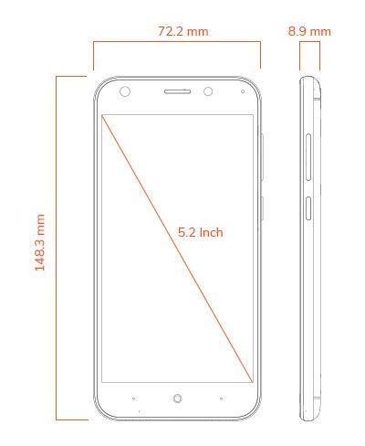 smartron t.phone P dimension