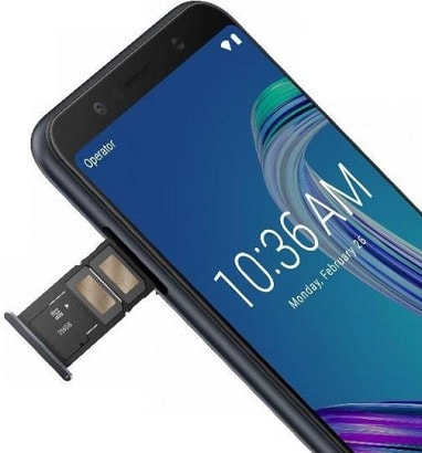 Asus Zenfone Max Pro M1 with triple slot(2 SIM + 1 SD card)