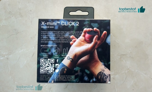 X-mini Click 2 Review topbestof specification